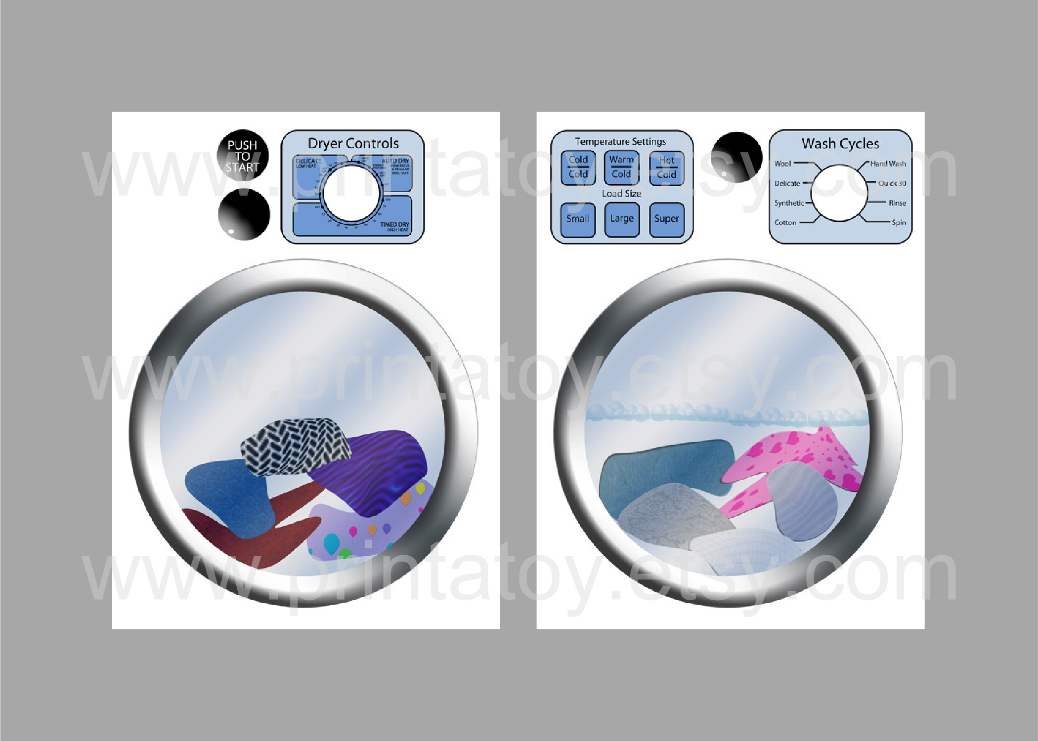 Tutorial A Play Washer And Dryer For My Daughter Party
